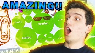 Reacting To The BEST Agario video EVER !!