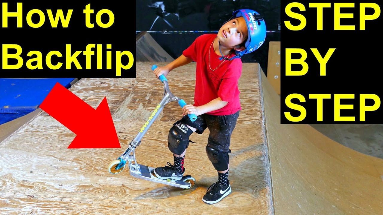 How to Backflip on a Scooter! EASY & SIMPLE ‼️
