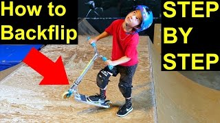 How to Backflip on a Scooter! EASY & SIMPLE✅‼️