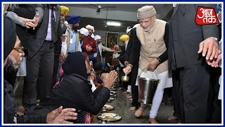 Narendra Modi First PM To Serve Langar At Amritsar's Golden Temple