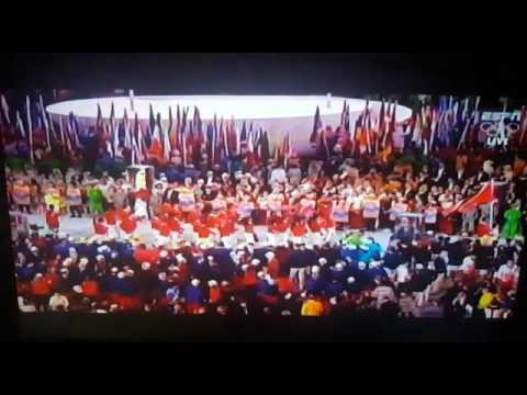 Trinidad and Tobago Olympic Team 2016 on the Maracanã