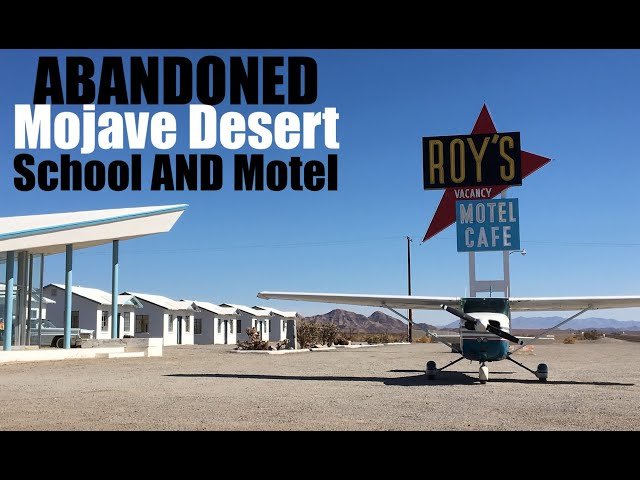 Exploring an Abandoned Desert Motel AND School (Roy's Cafe in Amboy, CA)