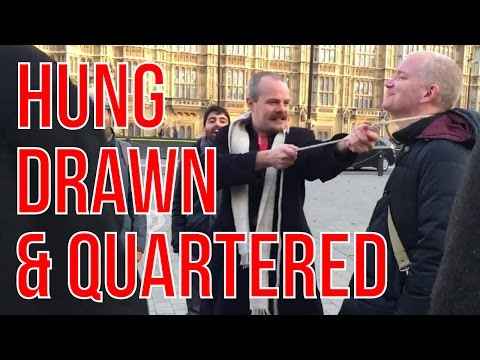 HUNG, DRAWN & QUARTERED - London Tour Guide Tortures London Realer!