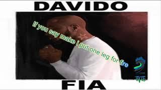 "Davido ""fia"" lyric video"