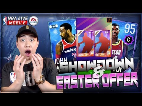 NBA Live Mobile 18 TONS OF CONTENT!! Easter Day Offer & New Showdown!! 90 OVR Easter Pull!!