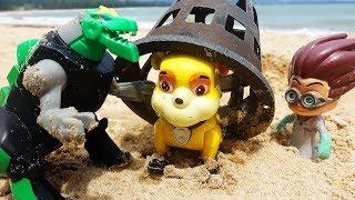 Щенячий Патруль Игрушки Динозавр Превращение Герои в Масках Видео для детей Мультики Paw Patrol