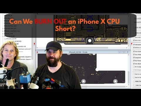 Can We BURN a Short Out of an iPhone X CPU?