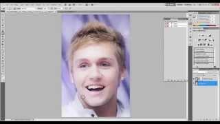 Убрать щетину в photoshop