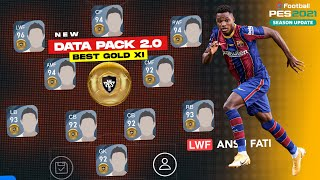 BEST GOLD BALL PLAYERS IN EVERY POSITION PES 2021 MOBILE