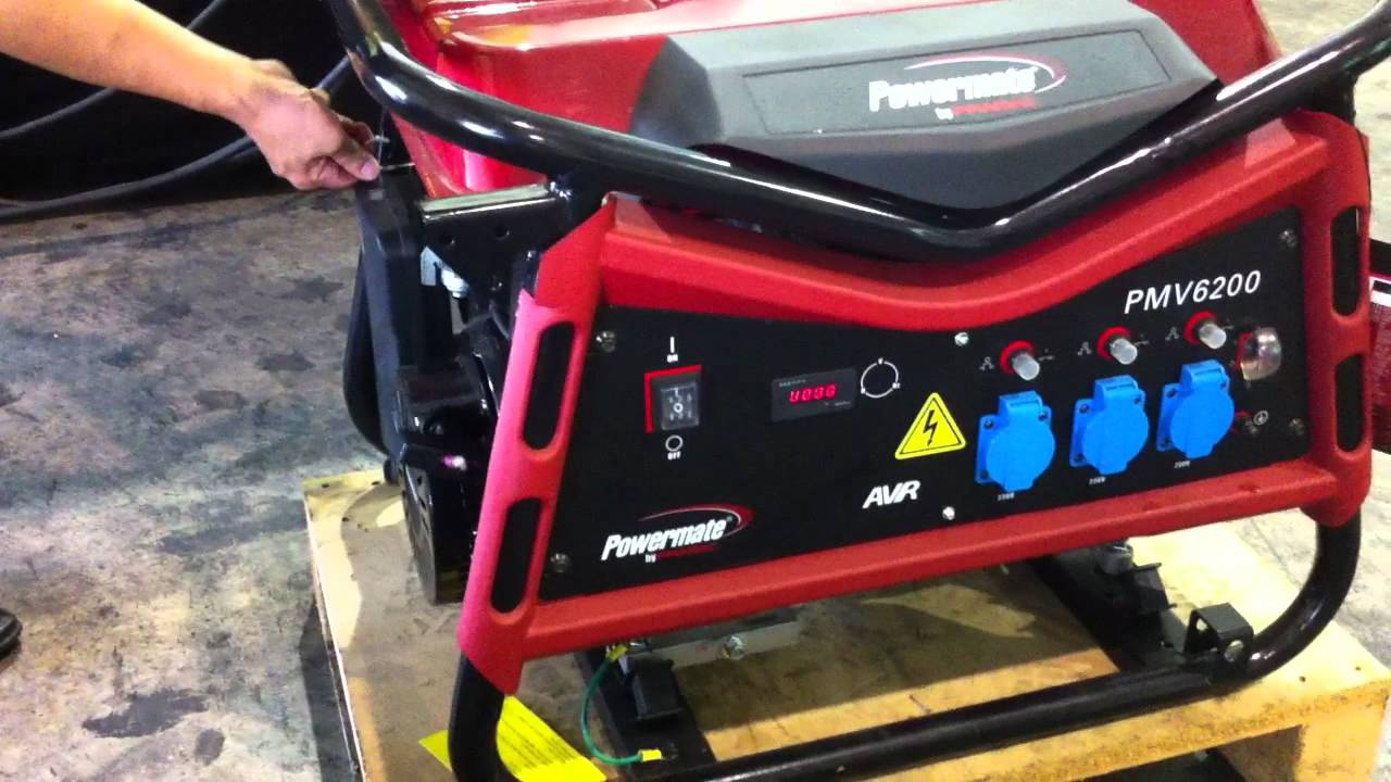 Powermate pmv6200 petrol portable generator youtube for Pramac powermate pmd5000s