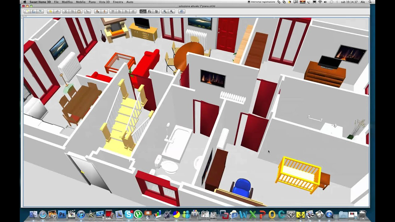 Animazione 3d con sweet home youtube for Sweet home 3d arredamento