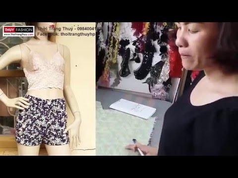 Hướng dẫn thiết kế quần short nữ phần 1 tại Thời Trang Thuỷ