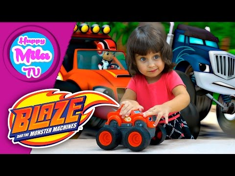 Blaze And The Monster Machines Transforming Fire Track unboxing funny review | HappyMilaTV #309