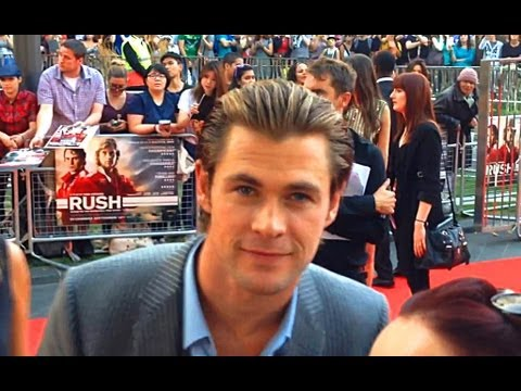 Chris Hemsworth Up Close At Rush World Movie Premiere