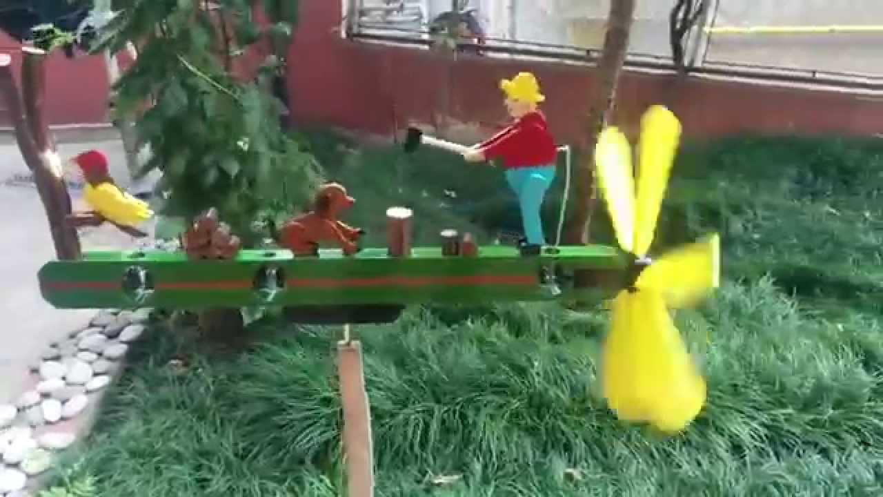 whirligig wood man dog and woodpecker youtube