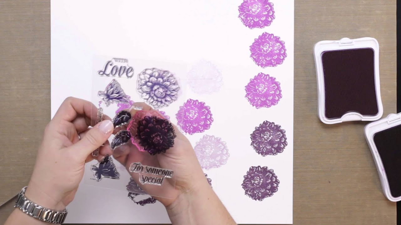 Close To My Heart Card Making Ideas Part - 21: Stamping Technique: Base And Shade Stamping - YouTube