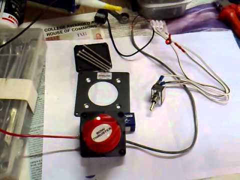 Boat Battery Disconnect Switch Wiring Diagram 2016 Mercedes Sprinter Radio Bep 701 Motorised Mp4 Youtube
