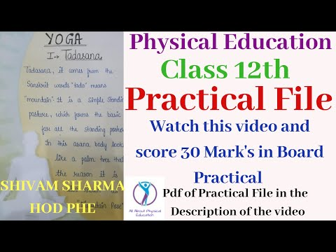 Practical File | Record File | Class 12th | Physical Education