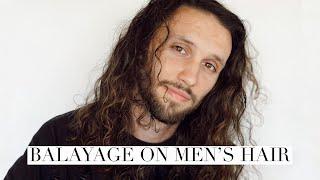Balayage On Men's Hair    Hair Tutorial