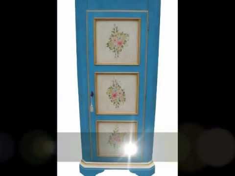 Mobili Laccati Classici.Mobili Classici Dipinti Laccati Decorati Angoliera Cantonale Con Disegni In Stile Provenzale