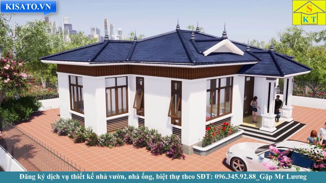 Mẫu Nhà Cấp 4 Đẹp 4 Phòng Ngủ 150m2 Tại Lạng Giang Bắc Giang