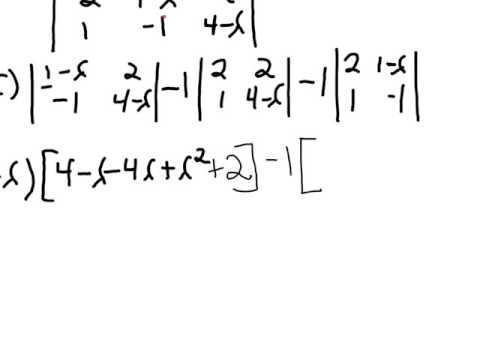 finding eigenvalues of a 3x3 matrix
