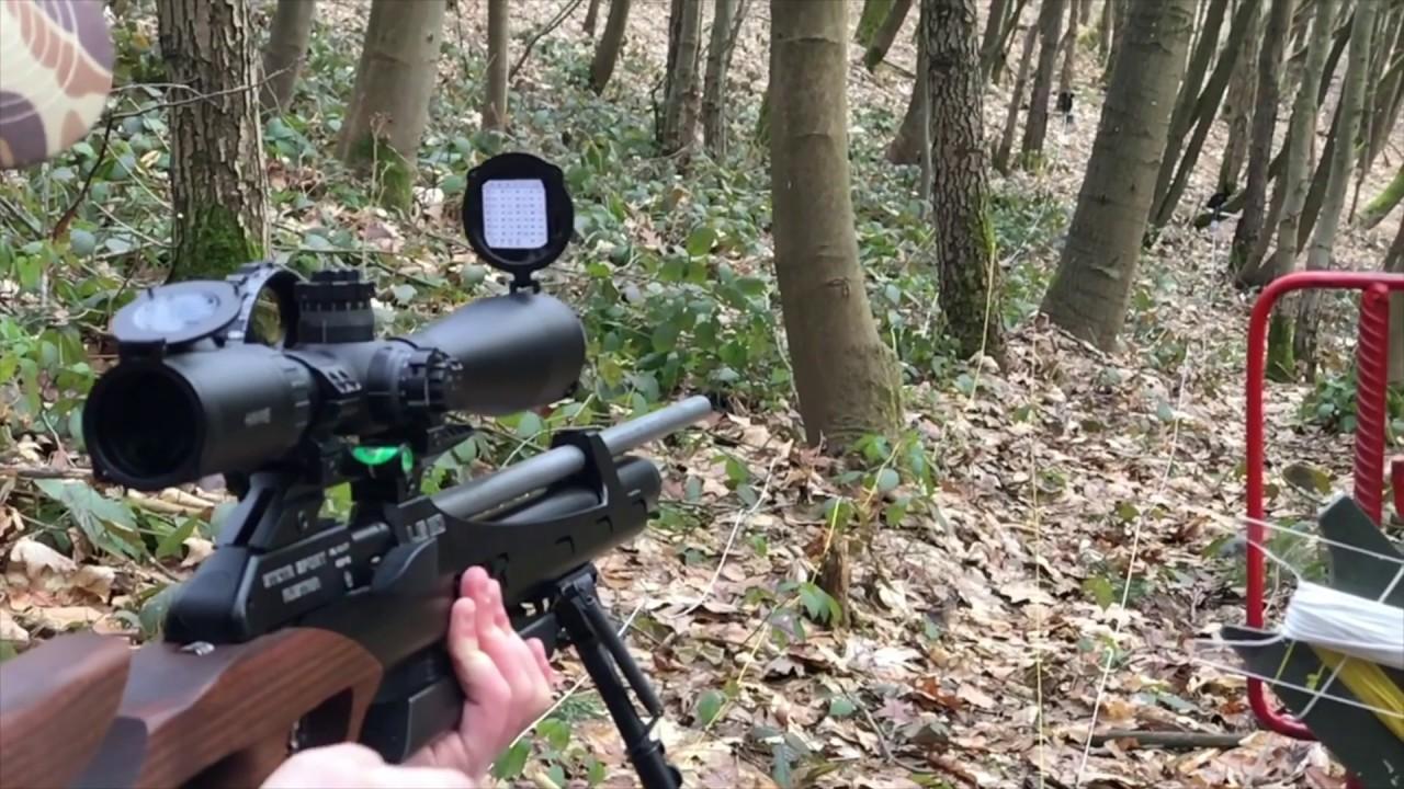 Luftgewehr field target schneehasenschießen 2017 mit airghandi youtube
