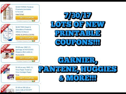 picture regarding Pantene Printable Coupons known as Sizzling Contemporary PRINTABLE Discount coupons GARNIER, PANTENE, HUGGIES Added!