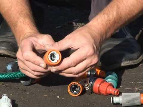 видео: Полив в огороде (на даче): шланги и быстросъемные соединения