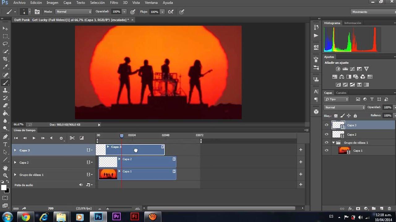 Rotoscopia en Photoshop CC - YouTube