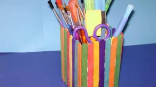 How To Make A Colorful Pencil Holder With Recycled Materials - Ep