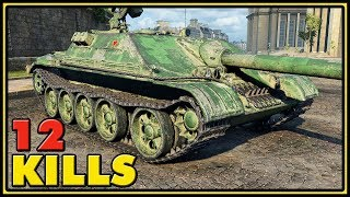 T110E5 - 11 Kills - 1 VS 4 - World of Tanks Gameplay