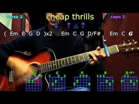 cheap thrills sia guitar chords