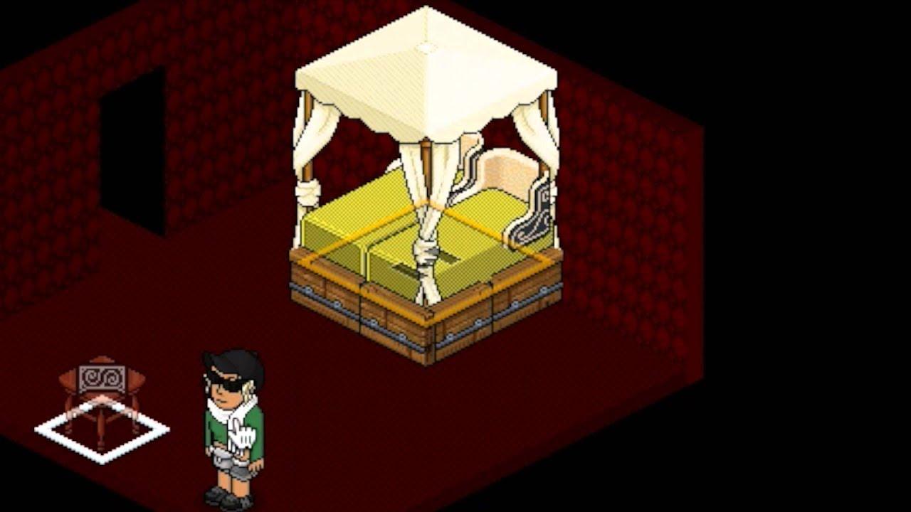 Comment faire un lit baldaquin sur habbo youtube - Lit baldaquin 140x190 ...