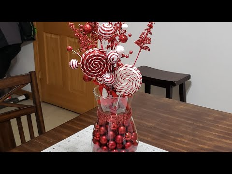 #christmas #centerpieces #dollartree  DIY Christmas Centerpiece