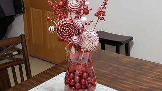 #christmas #centerpieces #dollartree  DIY Christmas Centerpiece