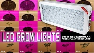 led grow light panel plant grow lamp 300 watt rectangular