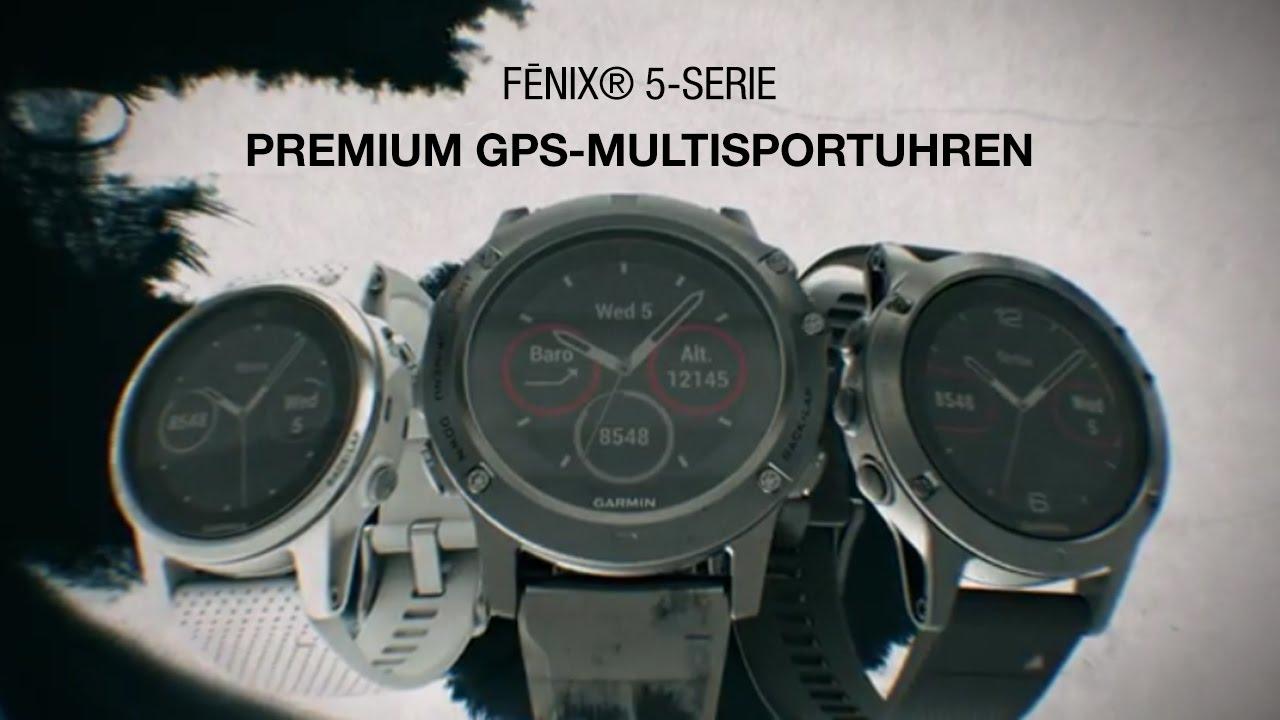 Garmin Fenix 5X Sapphire Grau GPS Uhr