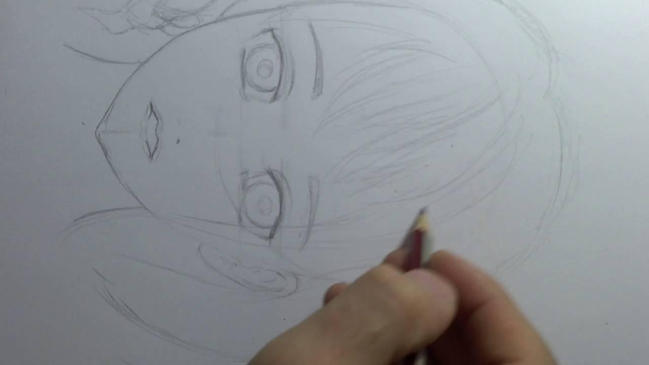 تعلم الرسم كيفية رسم وجه بنت انمي التخطيط Youtube