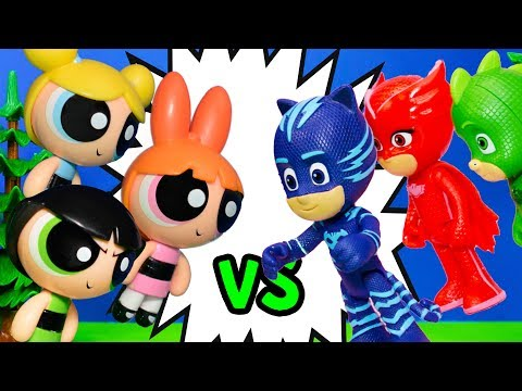 Thumbnail: PJ MASKS Vs Powerpuff Girls Hero Challenge to Save Tangled Ever After Rapunzel
