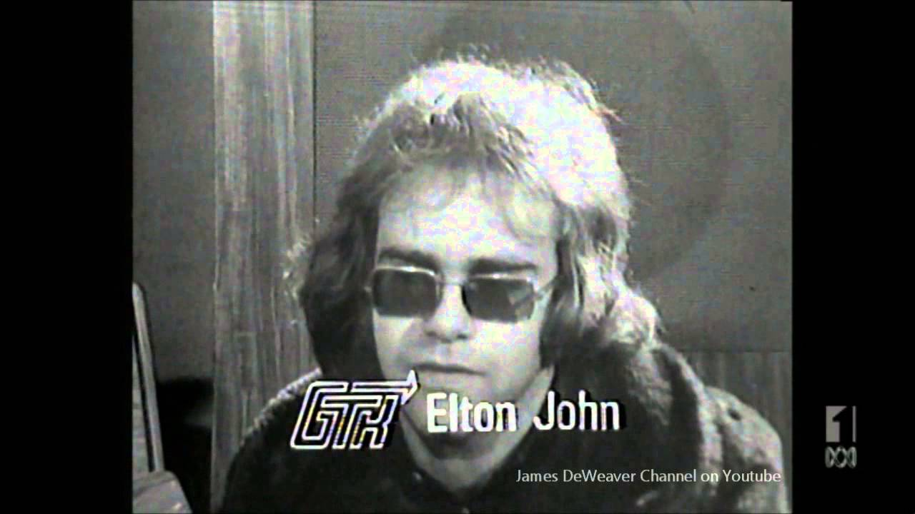 elton john age 23 march 18 1971 australian tv interview on gtk youtube. Black Bedroom Furniture Sets. Home Design Ideas