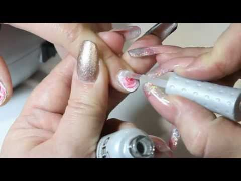 Isse 2013 Fun Easy Rose Nail Art With Orly Gelfx Youtube
