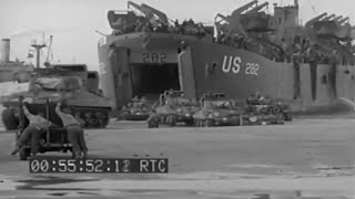 LST 281 & 282 Unload & Other Post D-Day Invasion Normandy Beach Activity (Silent)