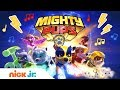 PAW Patrol's Mighty Pups 🐾 Theme Song | Music Video | Stay Home #WithMe | Nick Jr.