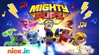 PAW Patrol's Mighty Pups 🐾 Theme Song Music Video | Nick Jr.