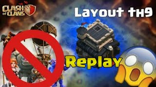 MELHOR LAYOUT CV9 PARA GUERRA/THE BEST BASE TH9 FOR WAR(COM REPLAYS) -CLASH OF CLANS