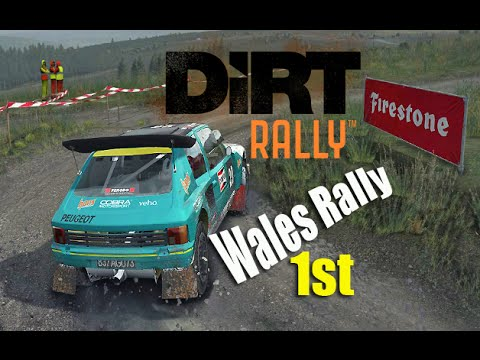 dirt rally wales rally 1st place pb peugeot 205 t16 pc youtube. Black Bedroom Furniture Sets. Home Design Ideas