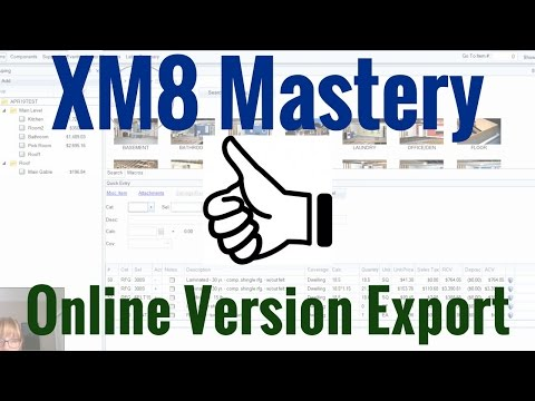 Repeat Export from Online Version of Xactimate by XM8
