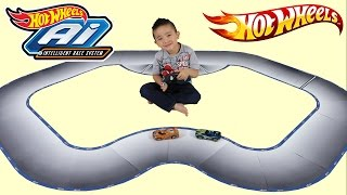 Hot Wheels AI Goes High-Tech With Video Game Style Racing Play! Ckn Toys Unboxing