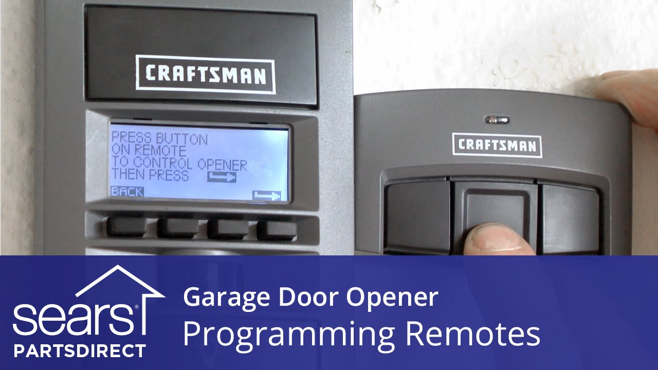 How To Program Craftsman Garage Door Opener >> Programming Garage Door Opener Remotes - YouTube